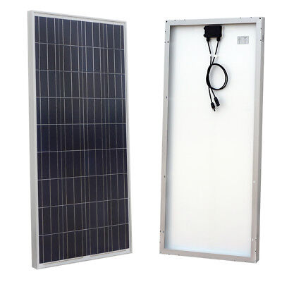160W 12V Solar Panel off Grid Battery Charging for Boat Vehicle RV Camping