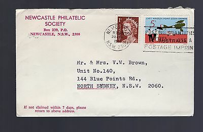 Australia 1971 Newcastle Philatelic Society advertising cover see scans x2