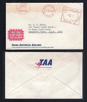 Australia TAA postage paid advertising cover 1968 see scans x3