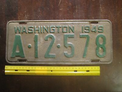 License Plate, Washington, 1949, A - 12 - 578