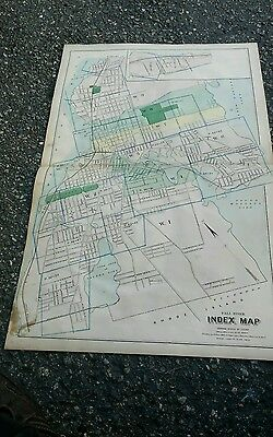 1883 map CITY OF FALL RIVER MA street Wards election voting
