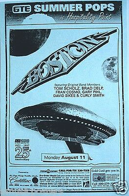 BOSTON 1997 SAN DIEGO CONCERT TOUR POSTER - Featuring The Original Band Members