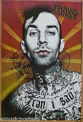 "BLINK 182 ""TRAVIS BARKER & HIS TATS"" POSTER FROM ASIA - Punk Rock Music"