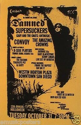 The Damned / Supersuckers / Convoy 2000 San Diego Concert Tour Poster