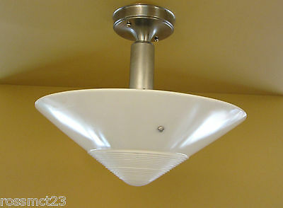 Vintage Lighting pair antique 1930s Westinghouse 300W kitchen ceiling lights