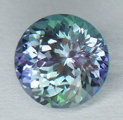 4.59Ct **certified Natural** Rare Unheated Green/blue/violet (Zoisite) Tanzanite