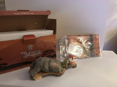 """Tuskers Elephant """"Love is a Birthday Treat"""" CA06526, Boxed, Rare, Collectable"""