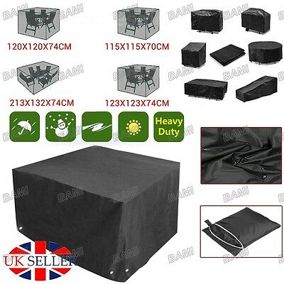 Heavy Duty Outdoor Waterproof Rattan Cube Cover Garden Furniture Rain Protection