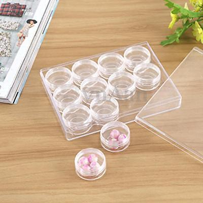 New 50Pcs 5g 5ml Clear Cosmetic Jar Pot Eyeshadow Makeup Face Cream Containers
