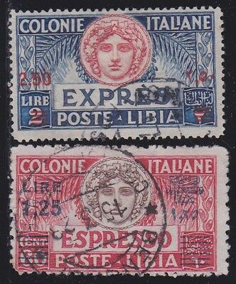 ITALIAN COLONIES LIBYA 1926-27 Special Delivery 2v / Used / G84803 B3