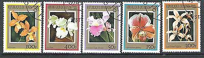 Flowers small lot of used stamps Benin