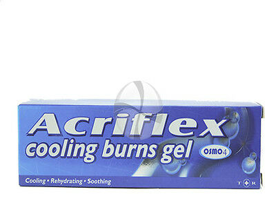 Acriflex skin COOLING GEL 30g burns gel soothing free post from UK pharmacy