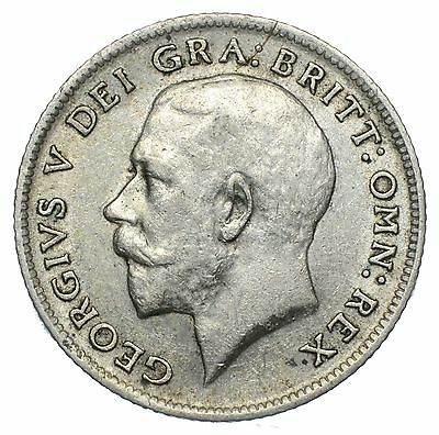 1911 Sixpence - George V British Silver Coin - Nice