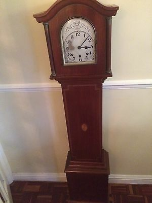 Old Wooden Grandmother Clock With Domed Top To Restore