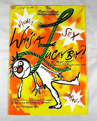 SIGNED Theatre Programme - Who's A Lucky Boy - Designed by Gerald Scarfe - 1985