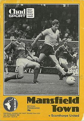 Mansfield Town V Scunthorpe United14/09/1981  League Cup 1St Round 2Nd Leg   (2)