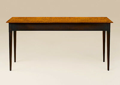 Country Hall Table / Sofa Table - New Shaker Style Tiger Maple Wood Furniture