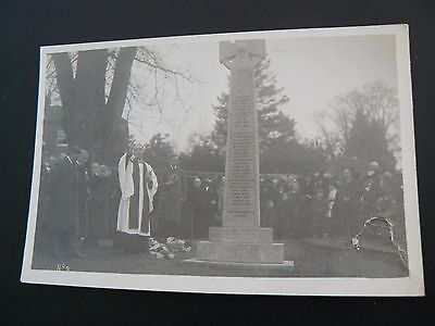 Real Photo RP Postcard by C E May of Reading showing Brimpton War Memorial