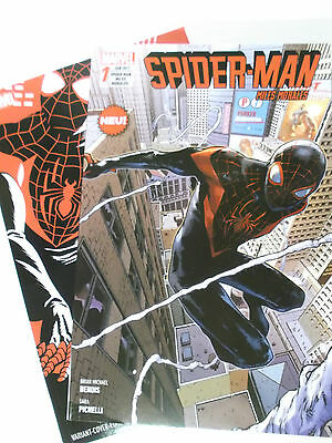 Auswahl : SPIDER-MAN Miles Morales # 1 + Variant 2 ( Panini ALL NEW 2016 ) NEU