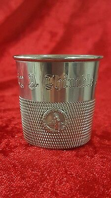 olny a thimble fall silver plate shot cup