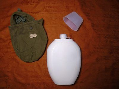 Soviet Russian Army VDV Plastic Flask with pouch  1.5 l. Afghanistan War