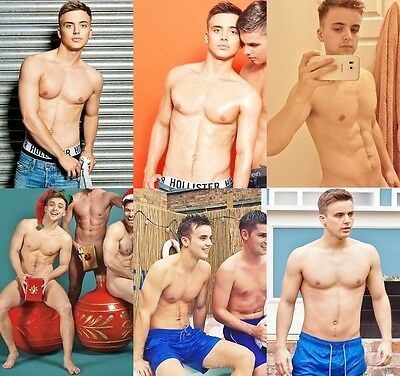 PARRY GLASSPOOL Harry Thompson C4's Hollyoaks Set of 6 A4 sized Shirtless Photos