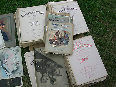 WW1 lot journal l'illustration  + guerre des nations + notre aviation de guerre