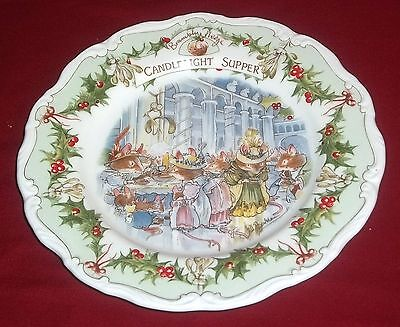 Royal Doulton BRAMBLY HEDGE - CANDLELIGHT SUPPER Collectors Plate