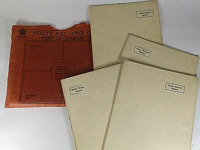 Vintage Kelly's Post Office Directory Maps of London - 1952
