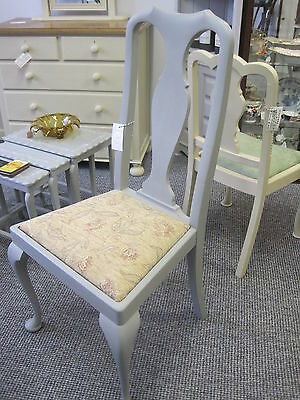 Vintage Queen Anne Style Dining Chair Painted in Annie Sloan Paris Grey