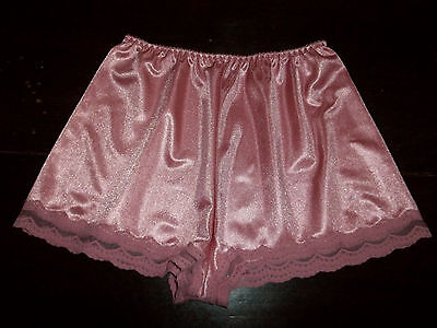 Vtg 70s St Michael Ultra Femme Dusky Pink Nylon Lacy French Knickers Panties