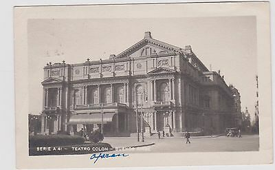 Argentina Buenos Aires Teatro Colon  Bw Ppc Pu 1920 Surface Crease