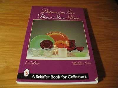 Depression Era Dime Store Glass Schiffer Collectors Book Ruby Fire King ++