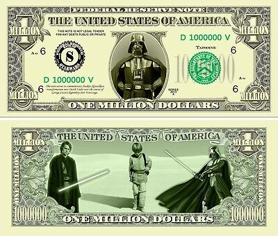 Darth Vader STAR WARS  Novelty Dollar with Protector and Free shipping Buy Now