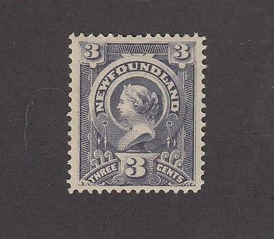 NEWFOUNDLAND # 60 VF-MH 3cts SLATE QUEEN VICTORIA CAT VALUE $60