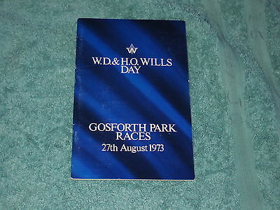 GOSFORTH PARK. NEWCASTLE RACE CARD 27th AUGUST 1973. W.D & H.O WILLS DAY