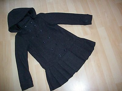 FAB Girls Marks & Spencer Grey Wool Mix Double Breasted Smart Coat sz 7-8yrs