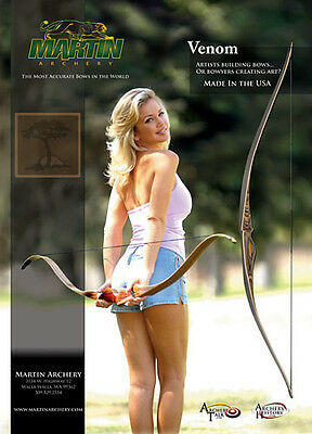 Martin Traditional Archery Poster - Long Out Of Print -New - 2 Left