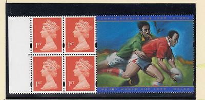 GB MNH 4 x 1st CLASS WITH RUGBY WORLD CUP 1999 BOOKLET PANE PO FRESH