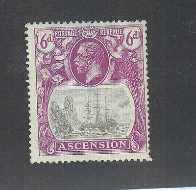 ASCENSION ISLAND # 17 MLH KGV 6d CAT VALUE $62.50