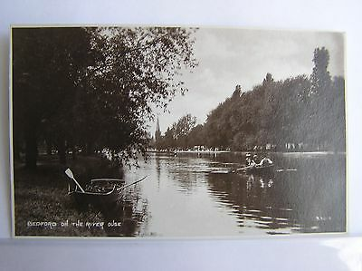 R/P POSTCARD - BEDFORD - ON THE RIVER OUSE - BEDFORDSHIRE - c.1912