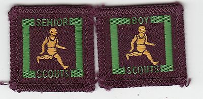 Boy Scout Proficnecy Badges 2 Issues Senior Athlete (111)