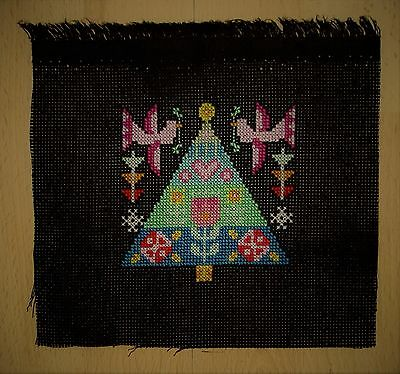 European Folk Art Completed Counted Cross Stitch