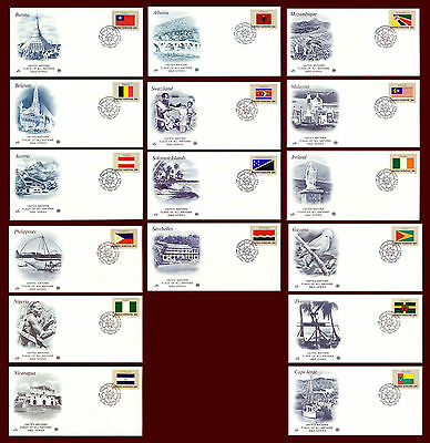 United Nations Flag Stamps 1982 Series.(BI#29)