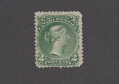 CANADA # 24 MNG 2cts GREEN LARGE QUEEN(Very Very Tiny Perf Tear) CAT VALUE $600