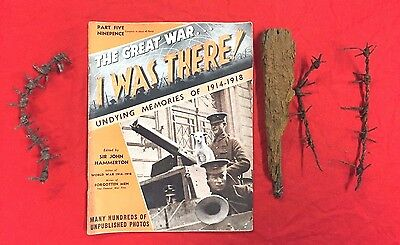Ww1 German & British Barbed Wire From Somme France Front Line Original.x 2