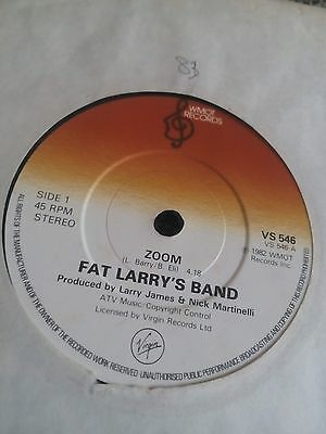 "Fat Larry's Band - Zoom 7"" single VG"