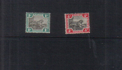 Federated Malay States 1900-22 pair of mounted mint values