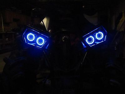 Can-Am Halo Rings for headlights - angel eye set of 4 Canam  Renegade - BLUE