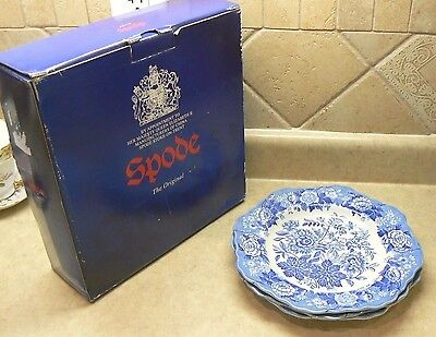 """(3) Nos Spode """"jasmine"""" Blue Room Collection 9"""" Luncheon Plates"""